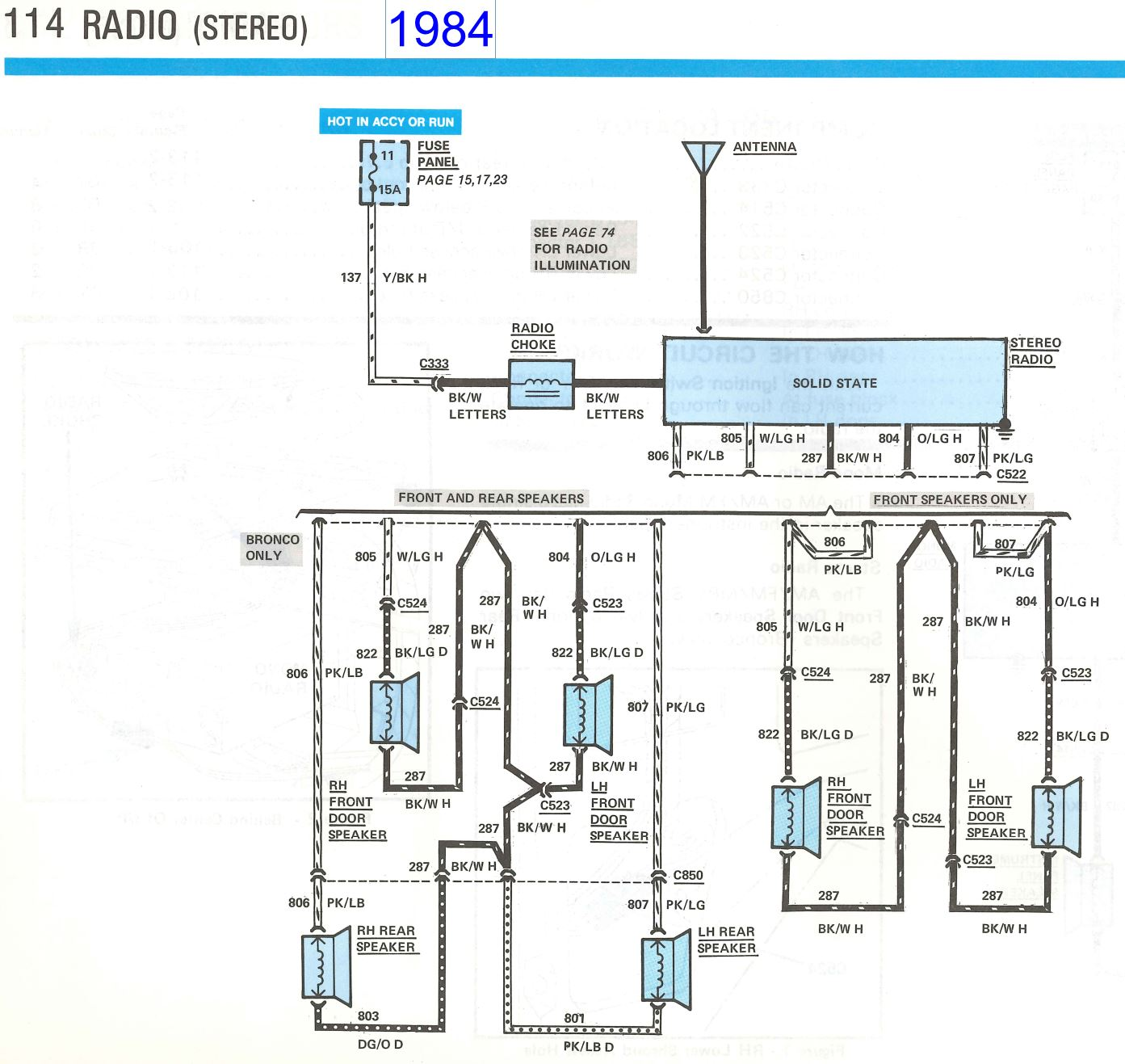 Bullnose Enthusiasts Radio Wiring Questions E4od To Zf5 Diagram Heres All I Know About For These Trucks From The 1981 1984 1985 And 1986 Evtm